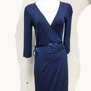 Express Wrap Dress Modal Jersey Long Sleeved